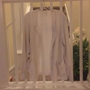 White scrub jacket